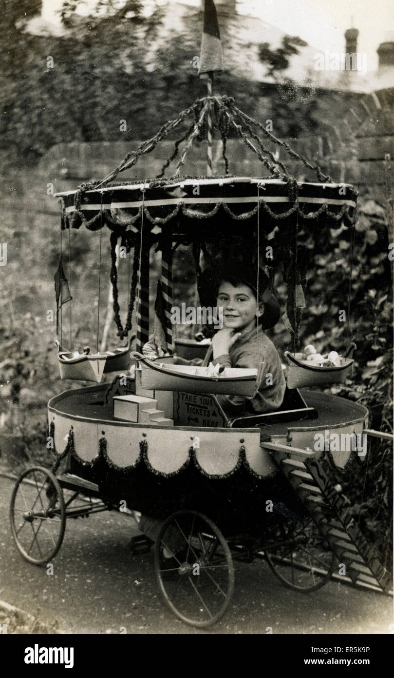 Child's Fairground Stall, England. 'Take your Tickets Here'.  1920s - Stock Image