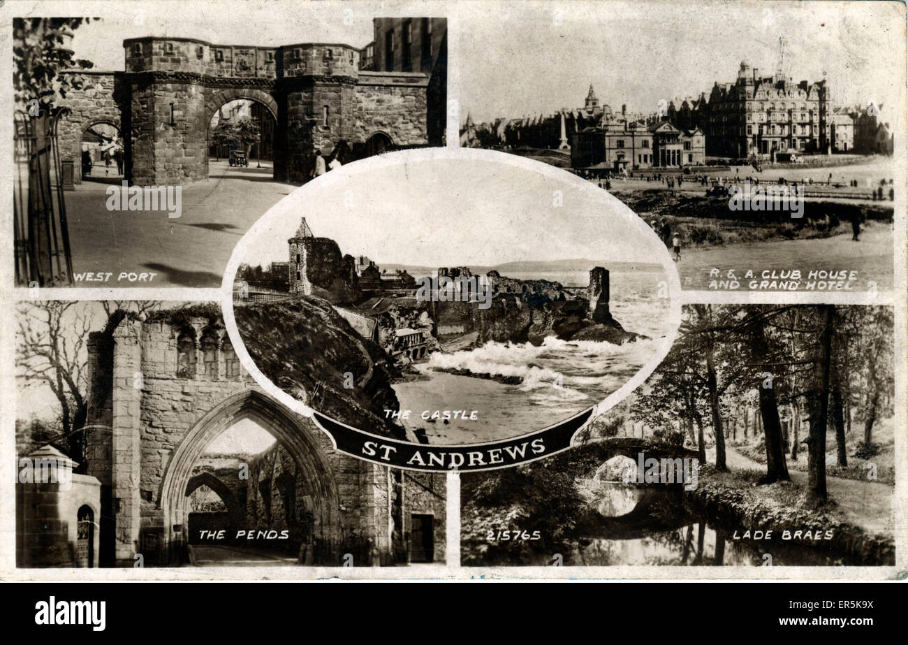 Mulitiview, St Andrews, Fife, Scotland.  1949 - Stock Image