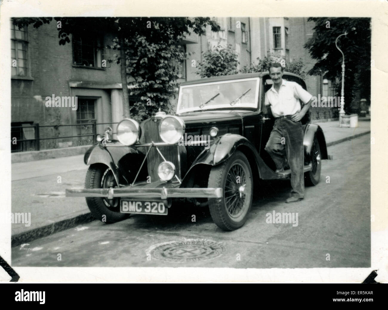 Talbot 105 Vintage Car, Twickenham, County of London, England. Luton registration.  1930s - Stock Image