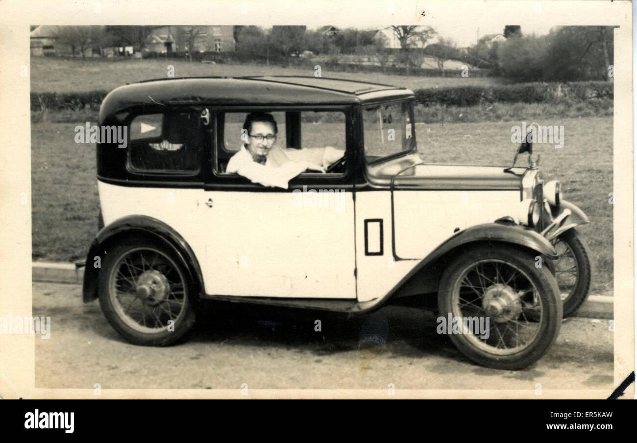 Austin 7 Vintage Car, Britain.  1930s - Stock Image