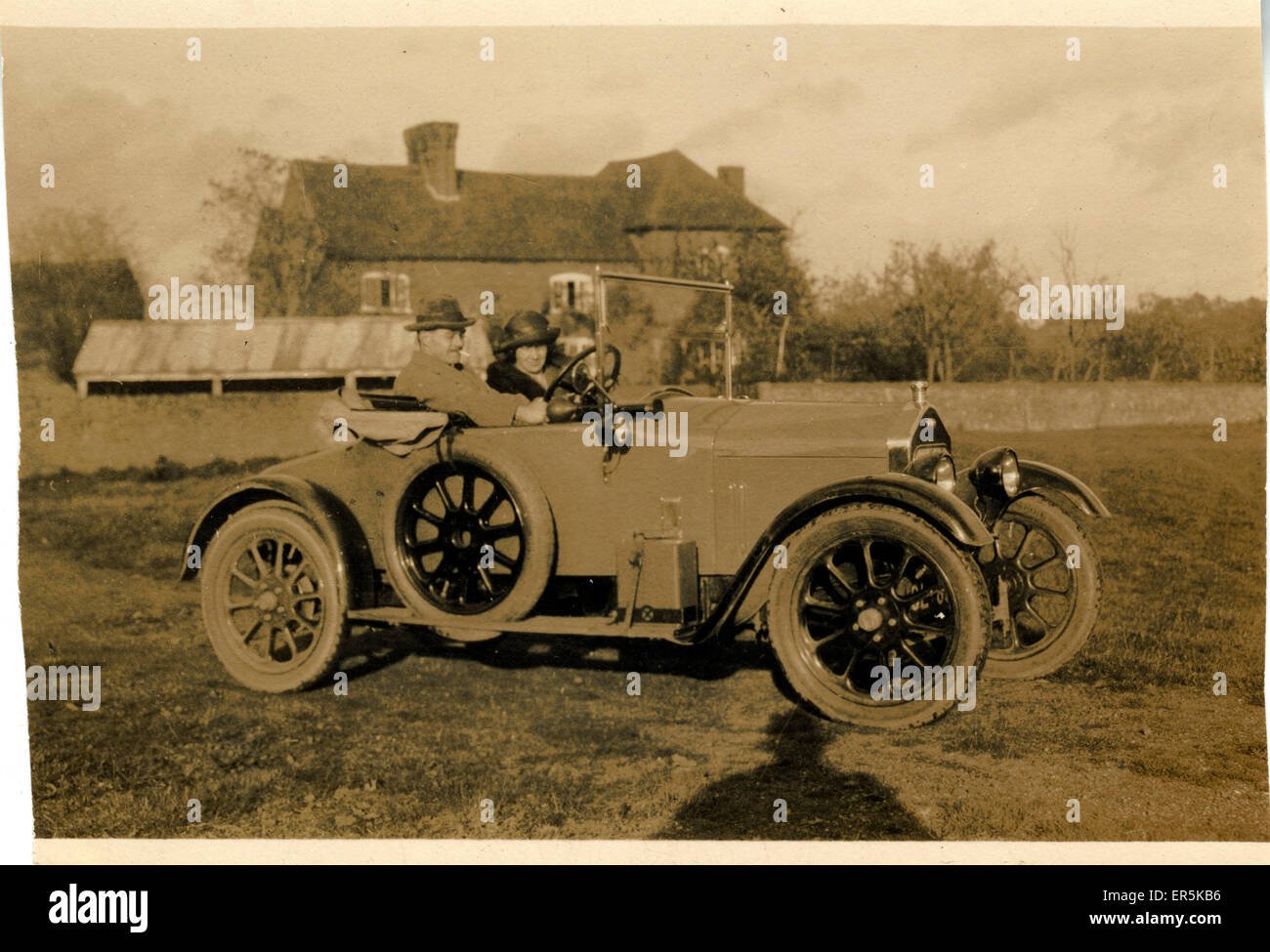 Wolseley Vintage Car, Britain. Birmingham registration. 1920s Stock ...