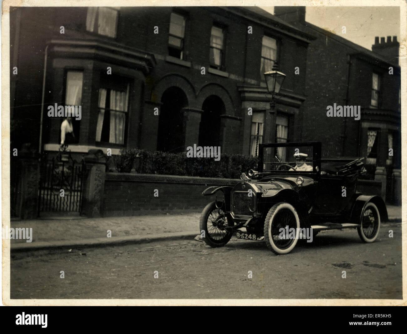 Wolseley Siddeley Vintage Car, Lynden Lea, Unknown, England.  1910s - Stock Image