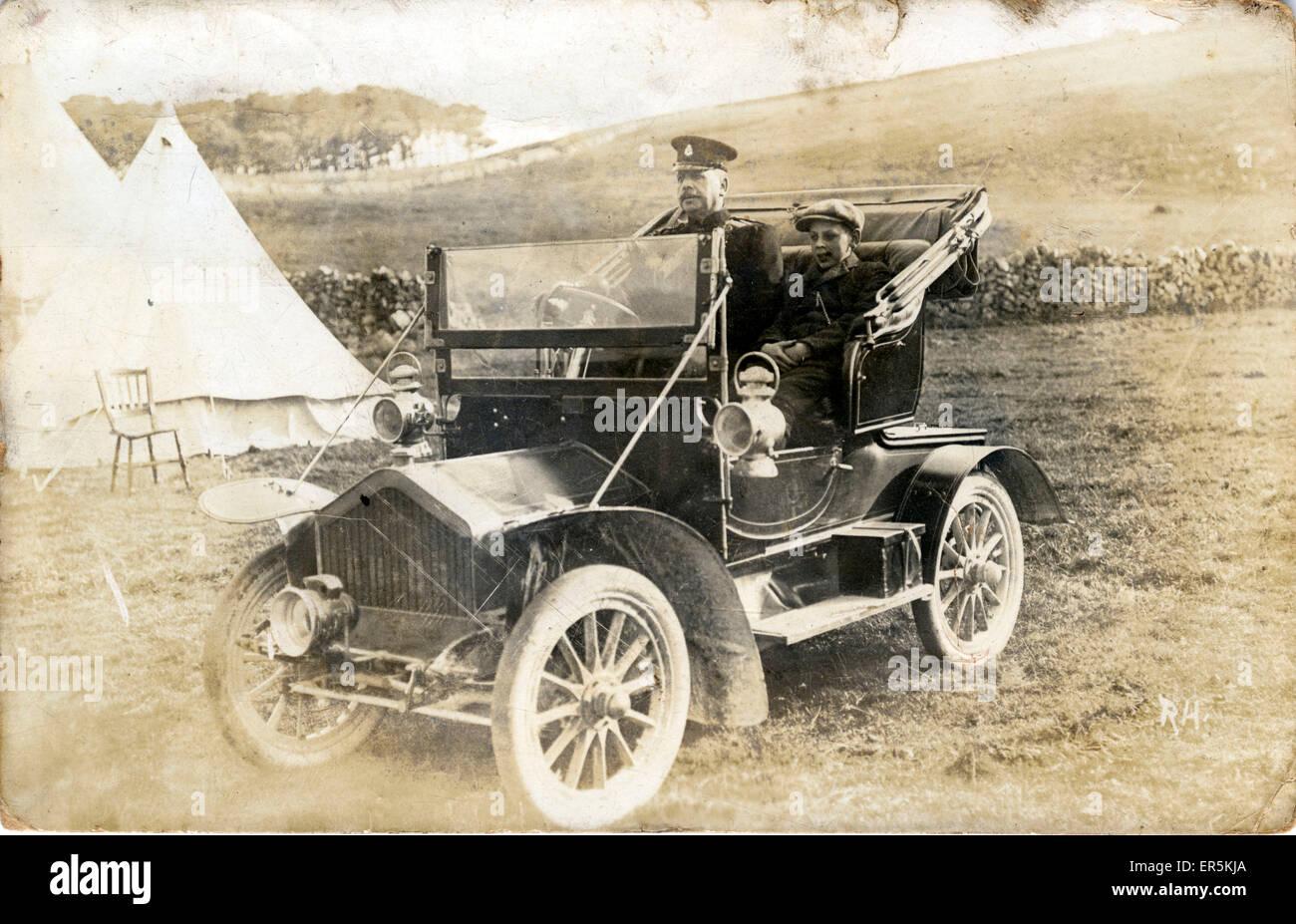 Humber Vintage Car (poss Veteran), Buxton, Derbyshire, England.  1910 - Stock Image