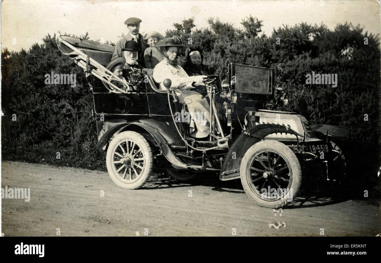 De Dion Bouton Vintage Car, Downton, Salisbury, Wiltshire, England. London North West registration.  1909 - Stock Image