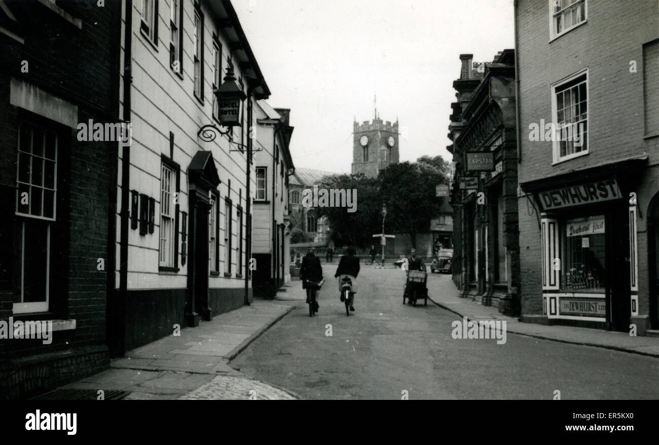 Thoroghfare, Halesworth, Suffolk, England.  1930s - Stock Image