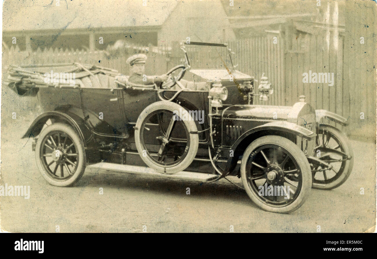Straker Squire Vintage Car, Britain.  1910s - Stock Image