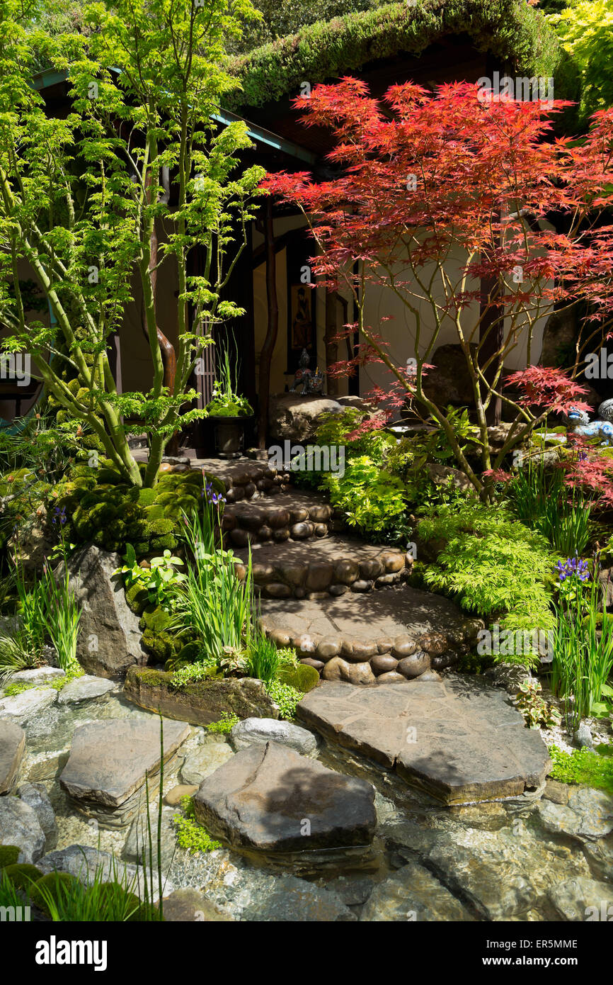 The Edo no Niwa - Edo Garden by Ishihara Kazuyuki Design Laboratory, Gold medal winner at the RHS Chelsea Flower - Stock Image