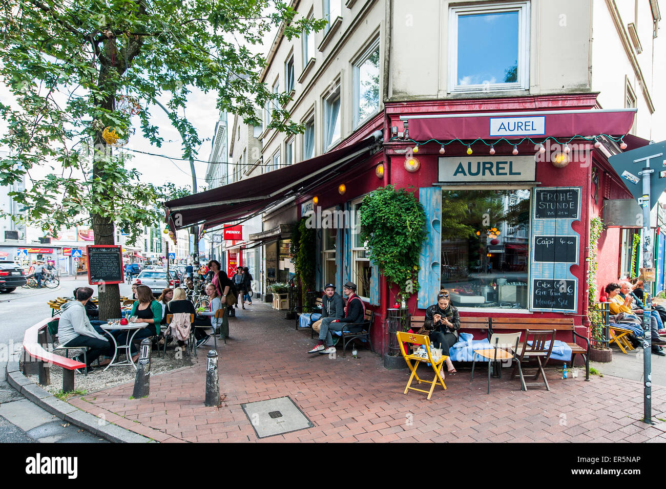 people in front of bar aurel altona hamburg germany stock photo 83105086 alamy. Black Bedroom Furniture Sets. Home Design Ideas