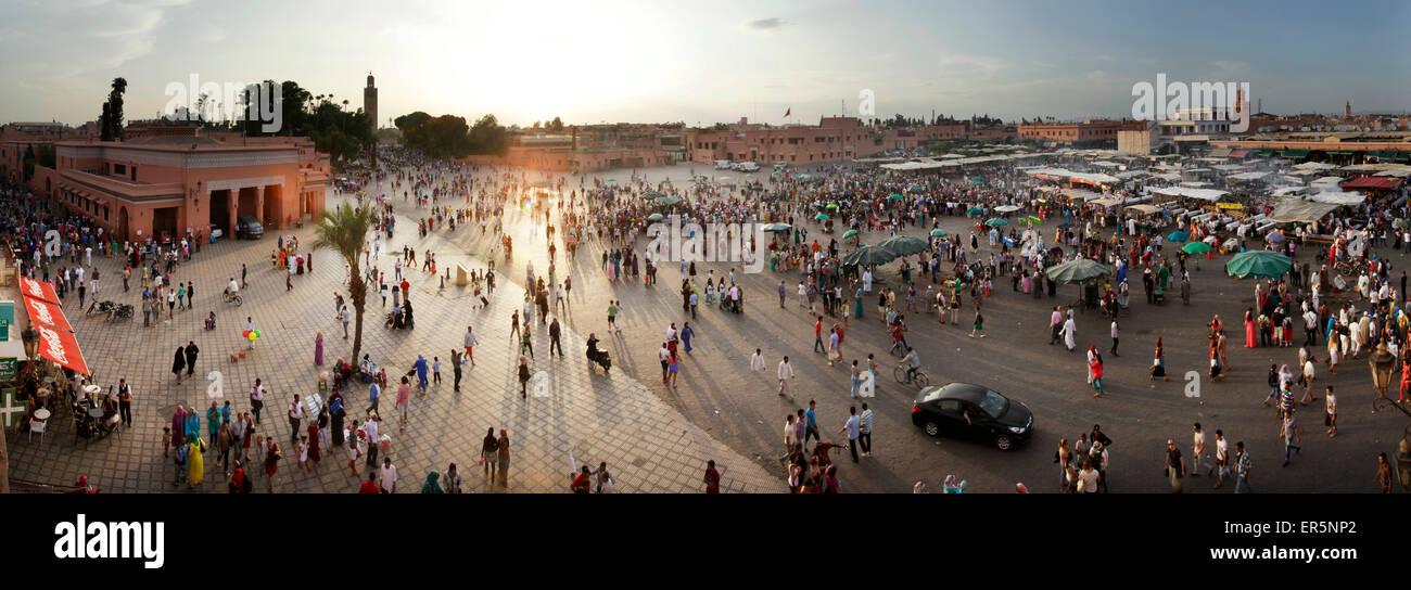 Jemaa el-Fnaa, Marrakesh, Morocco Stock Photo