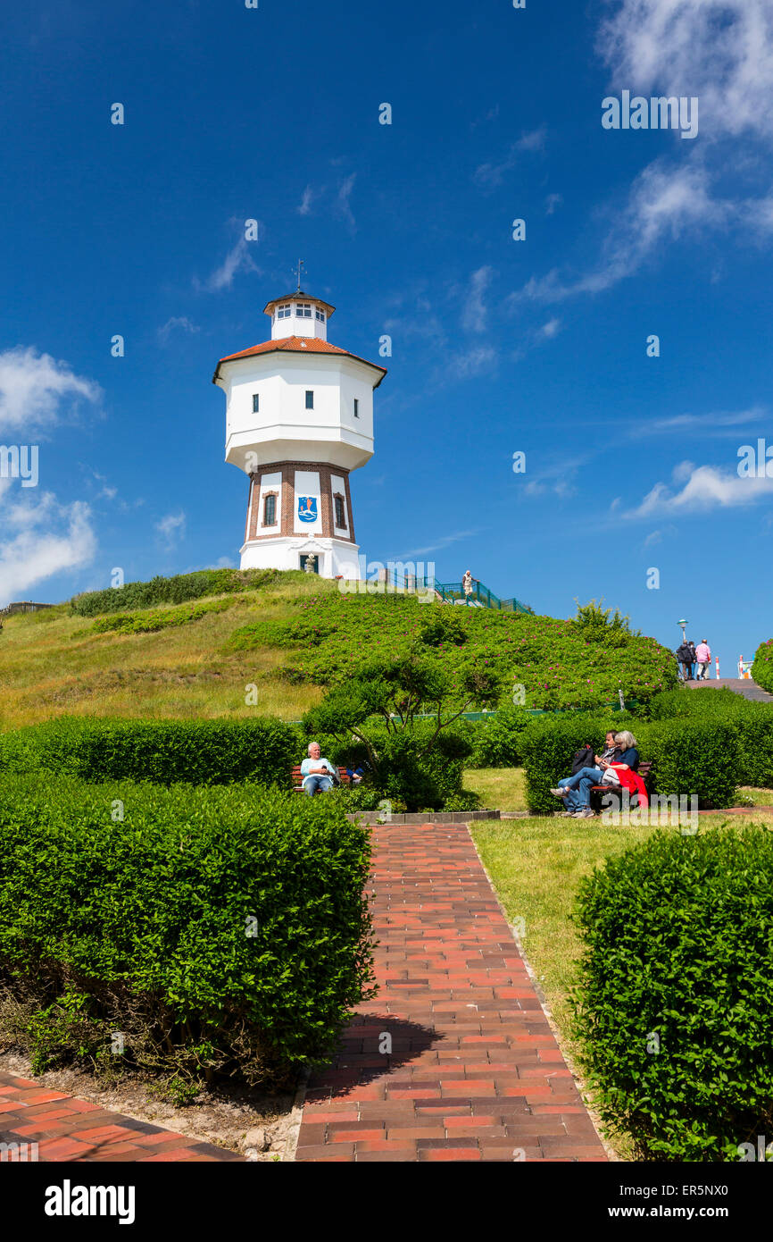 Water tower on Langeoog Island, North Sea, East Frisian Islands, East Frisia, Lower Saxony, Germany, Europe Stock Photo