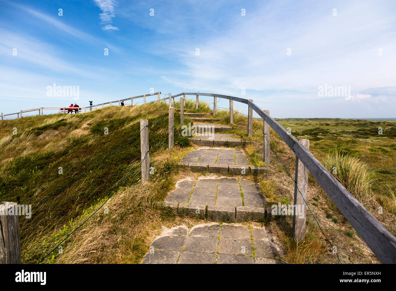 Look-out dune, Langeoog Island, North Sea, East Frisian Islands, East Frisia, Lower Saxony, Germany, Europe - Stock Image