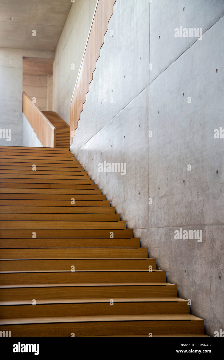 Stairway in the Georg Schaefer Museum, Schweinfurt, Franconia, Bavaria, Germany Stock Photo