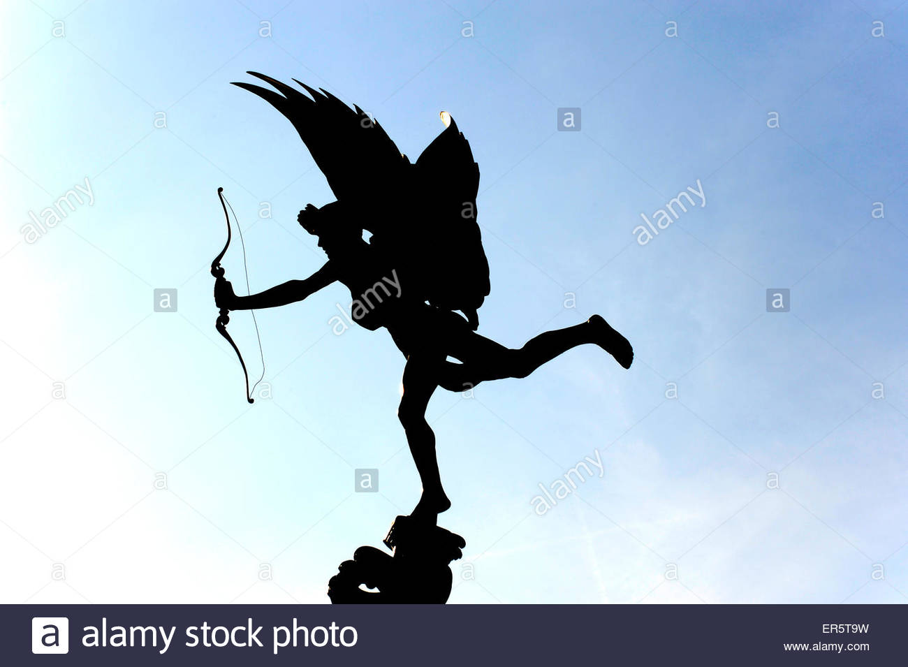 Eros sculpture on Piccadilly Circus, Soho quarter, West End, London, England, Great Britain, United Kingdom - Stock Image