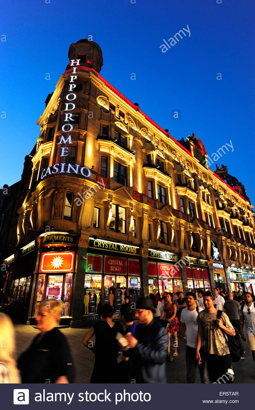 Hippodrome Casino, nightlife at Leicester Square, Soho quarter, West End, London, England, Great Britain, United - Stock Image