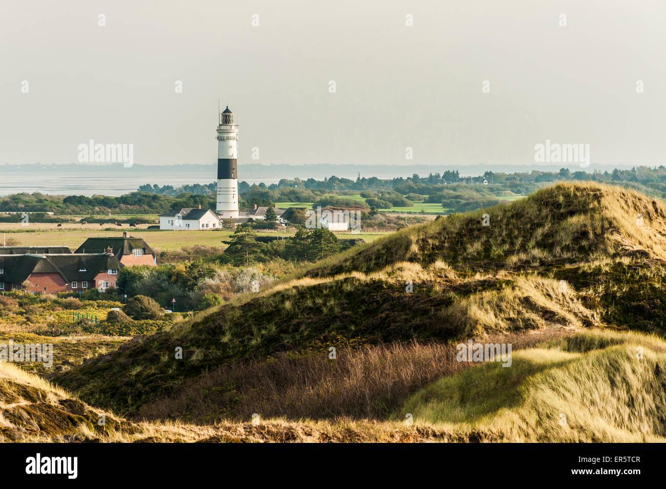 Lighthouse, Kampen, Sylt, Schleswig-Holstein, Germany - Stock Image