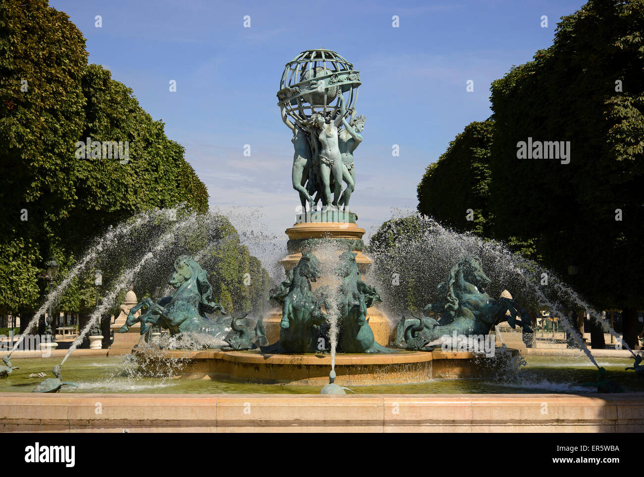 La fontaine des Quatre-Parties-du-Monde in the Jardin Marco Polo ...
