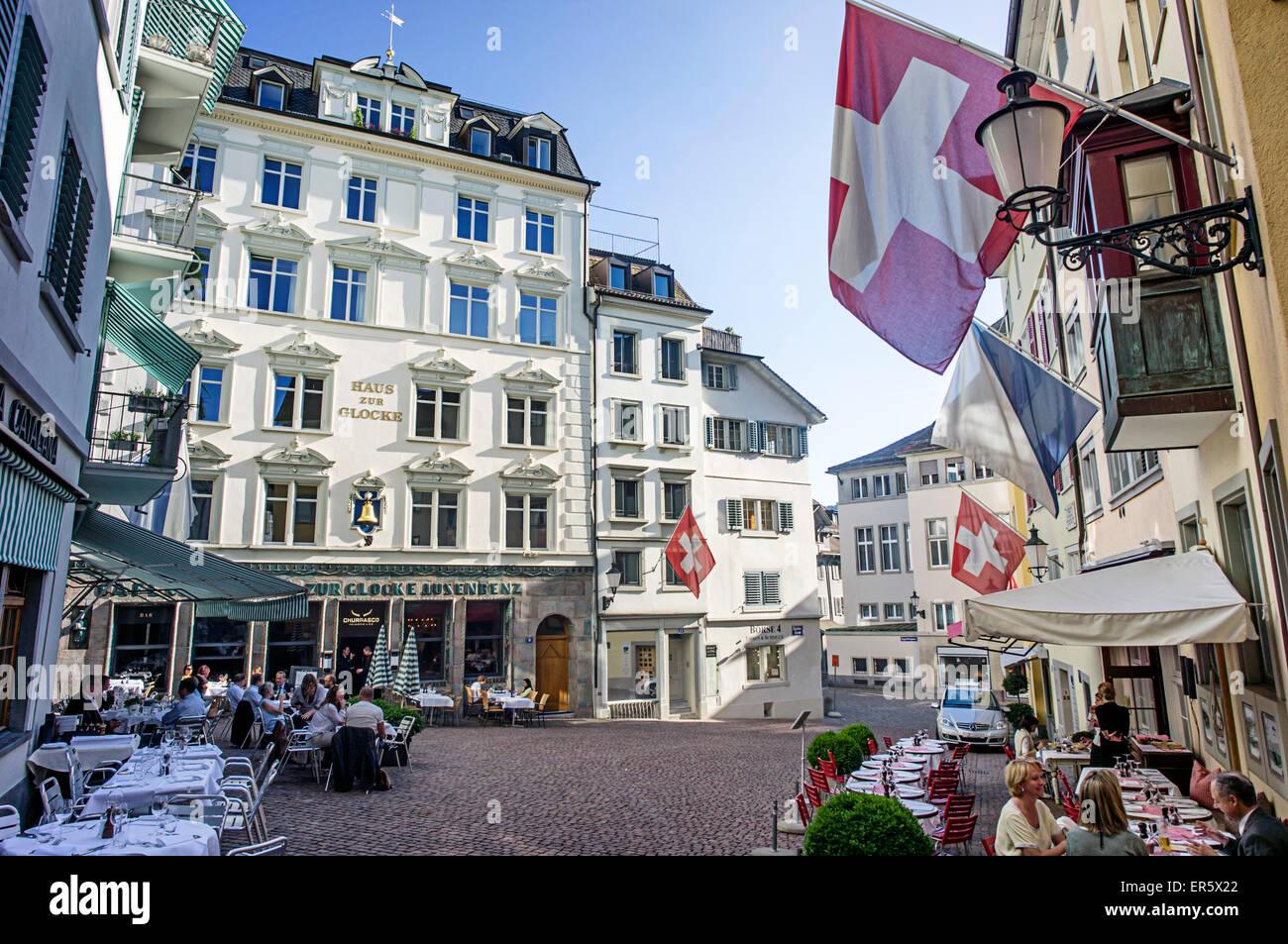 Haus zur Glocke, Steak House in the old town, Zurich, Switzerland - Stock Image