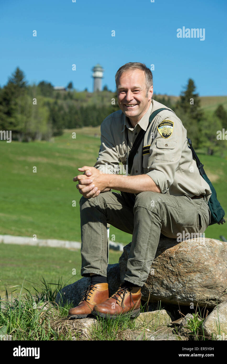 Mr Laber, ranger at Feldberg, Black Forest, Baden-Wuerttemberg, Germany - Stock Image