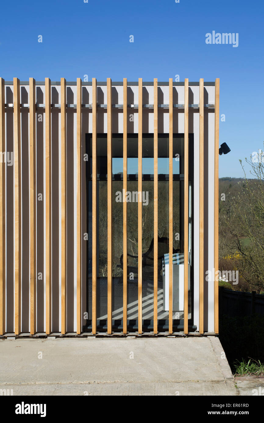 Detail Timber Cladding And View Through House Upside Down
