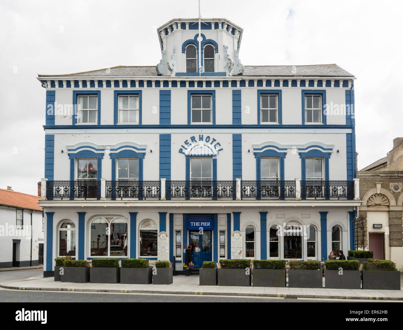 Pier hotel and restaurant in Harwich Essex - Stock Image