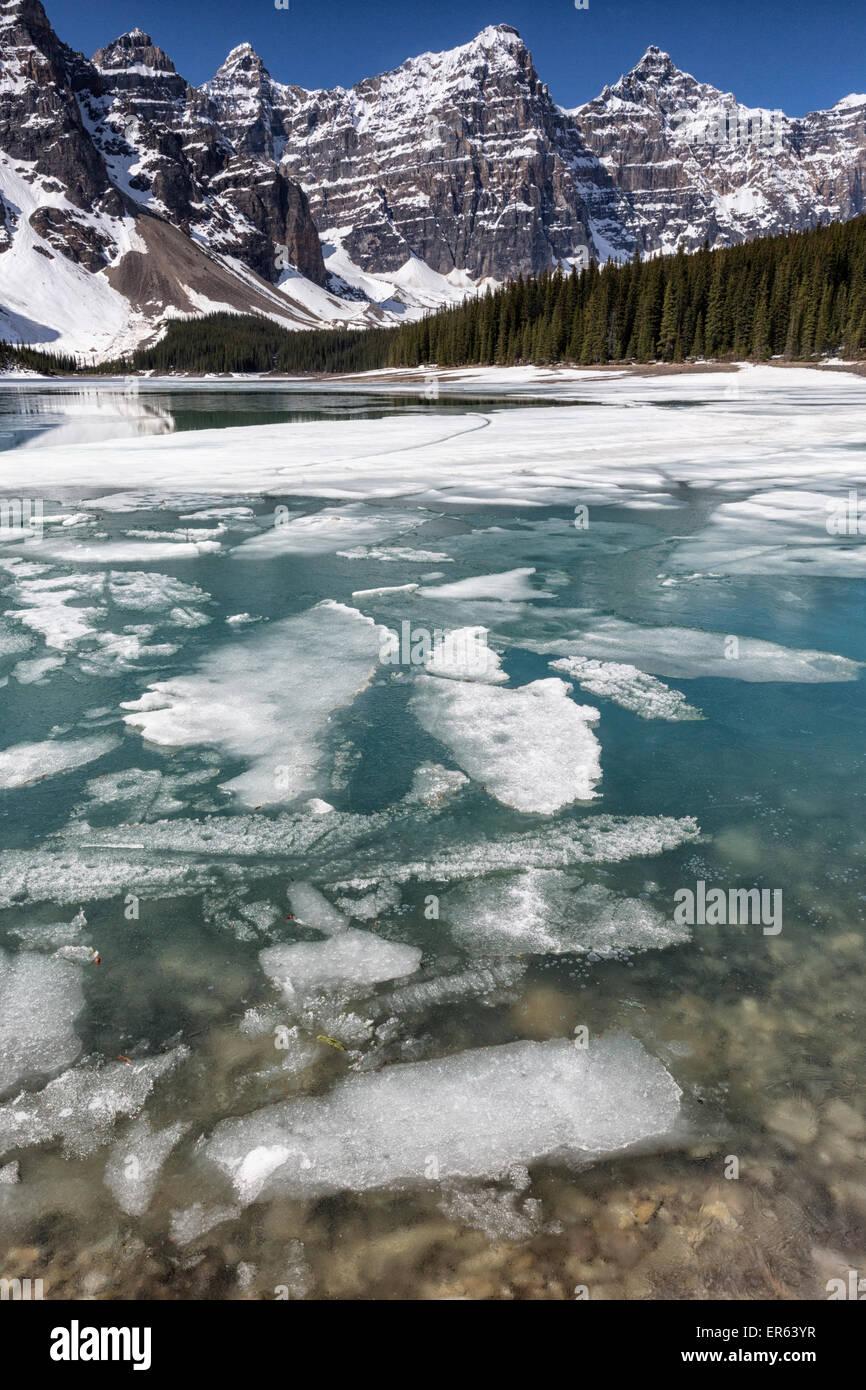 Moraine Lake Banff National Park Alberta Canada Stock