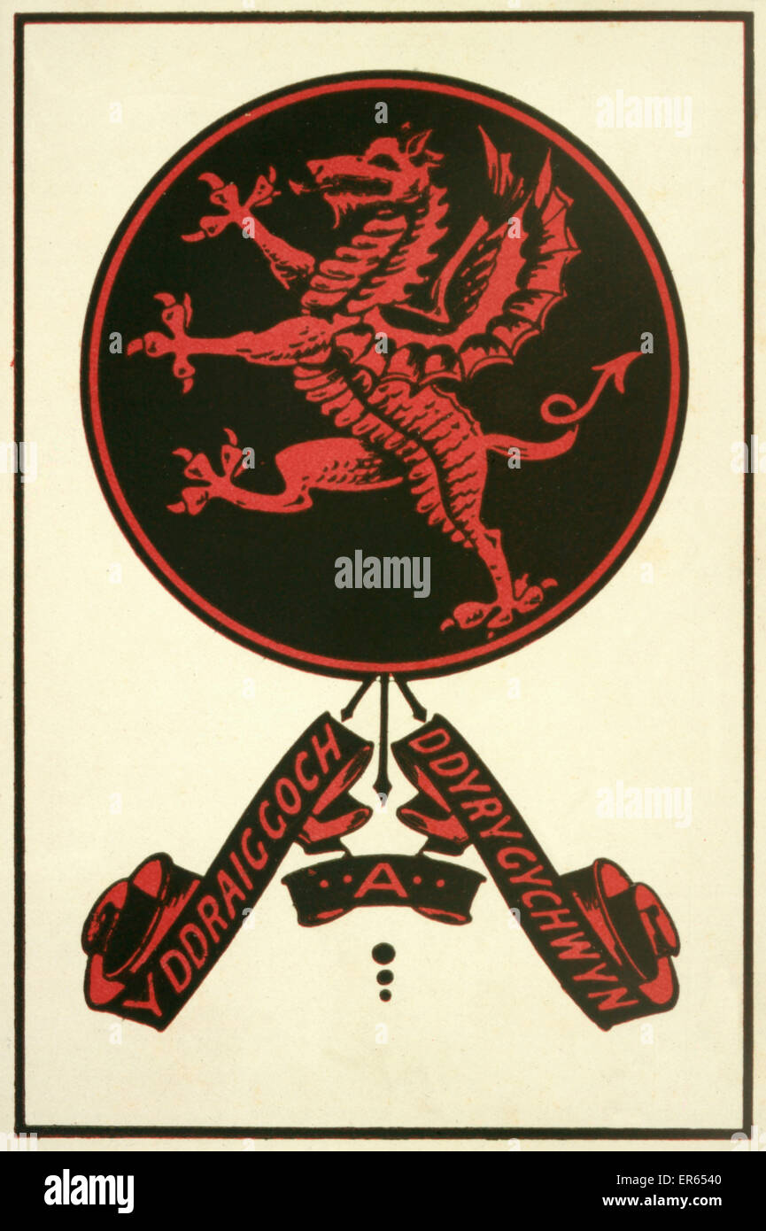 The Welsh Dragon.  13th century - Stock Image