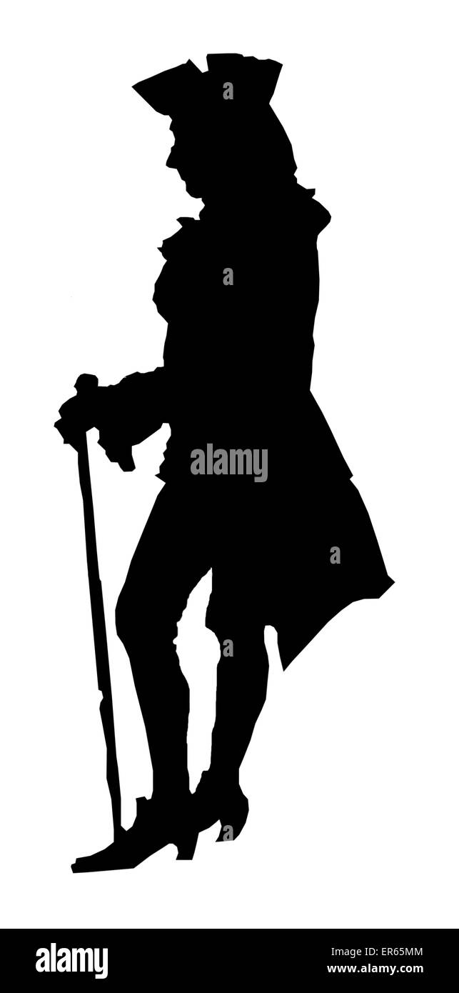 Etienne de Silhouette (1709-1767) - French Controller-General of Finances under Louis XV of France. His miserly - Stock Image