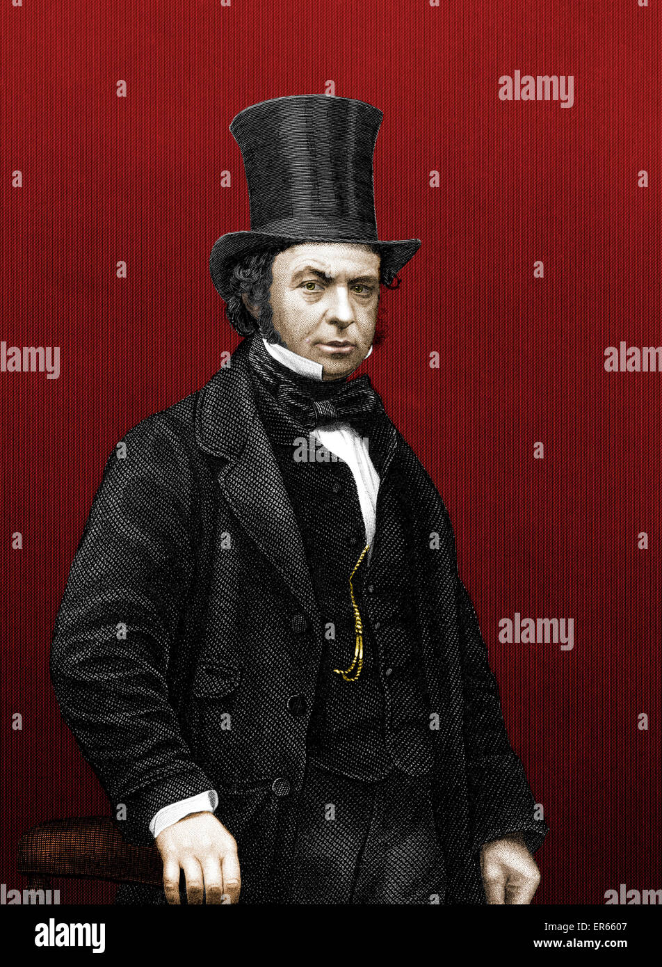 Isambard Kingdom Brunel (1806 15 September 1859) - English mechanical and civil engineer. Designer and builder of - Stock Image