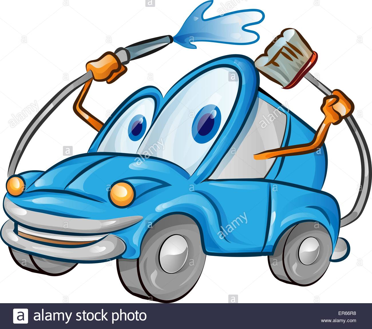 car wash cartoon stock vector art illustration vector image rh alamy com car wash cartoons youtube car wash cartoon pictures