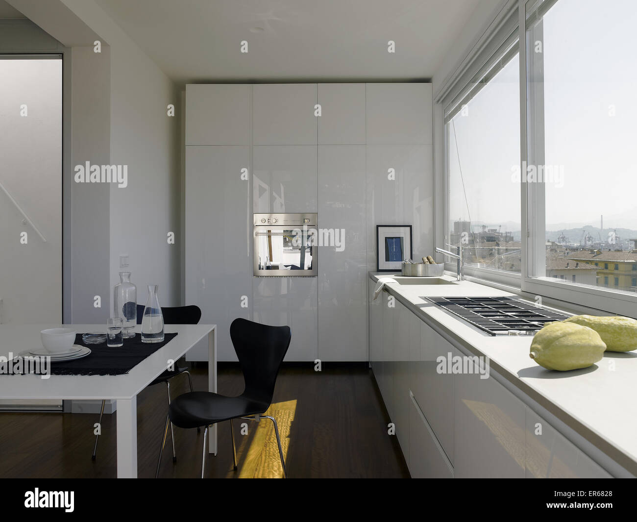Interior Of A Contemporary Kitchen In An Elegant Loft With A