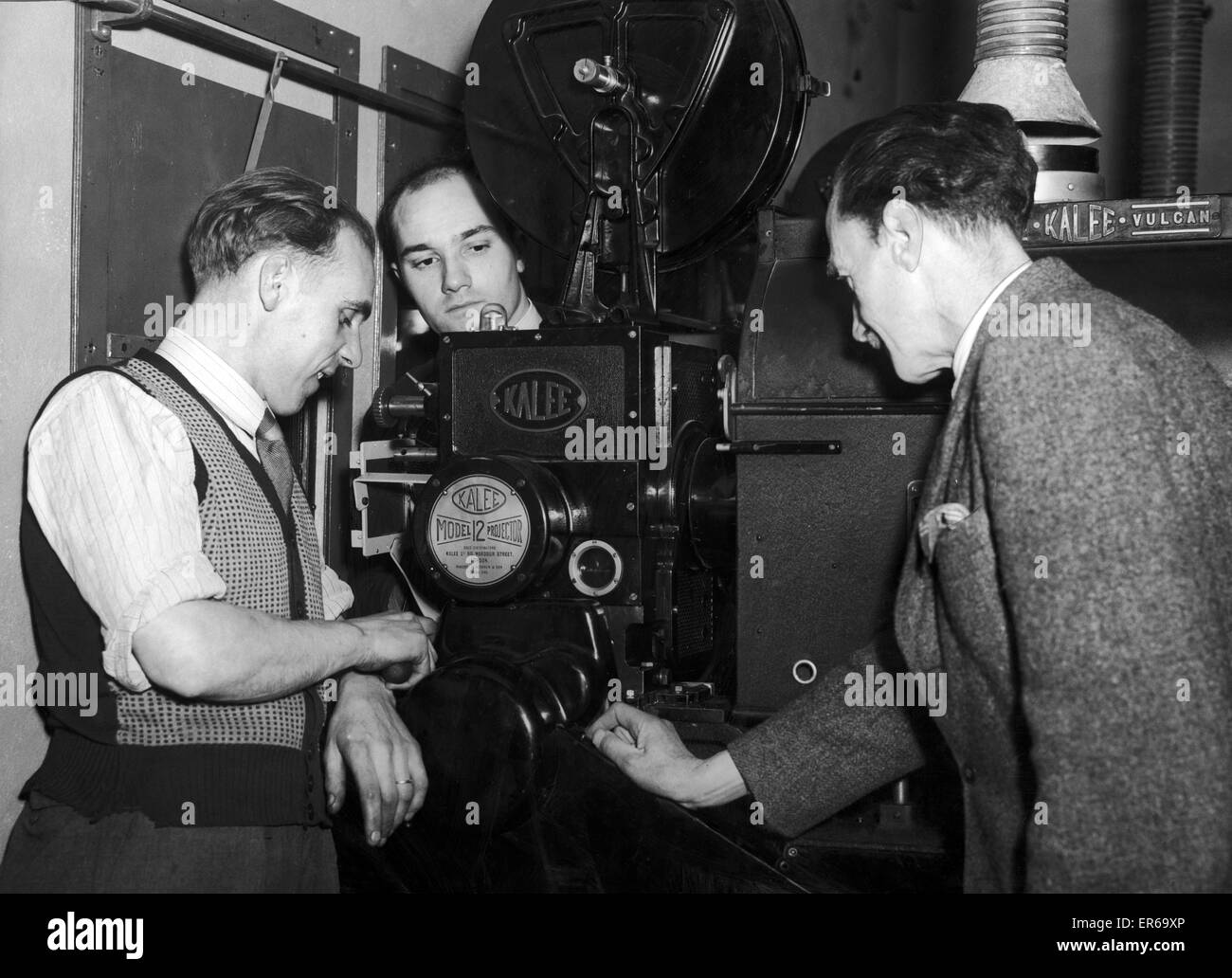 Projector Room, Classic Cinema, Renfield Street, Glasgow, Scotland,  24th July 1964. Previously known as Cranston's - Stock Image
