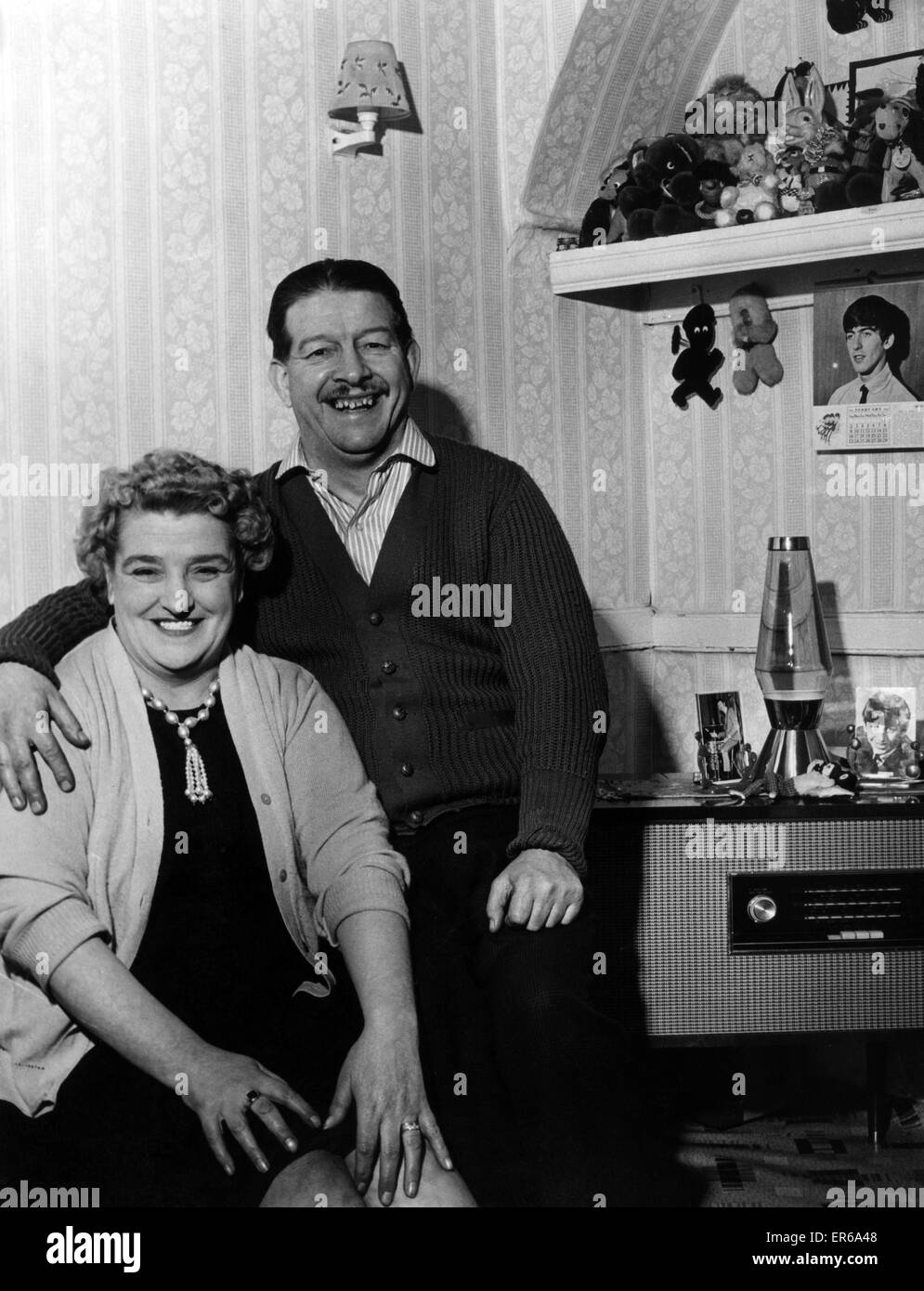 Richard Starkey and Elsie Graves, parents of Ringo Starr, pictured at his childhood home,10 Admiral Grove, Liverpool, - Stock Image