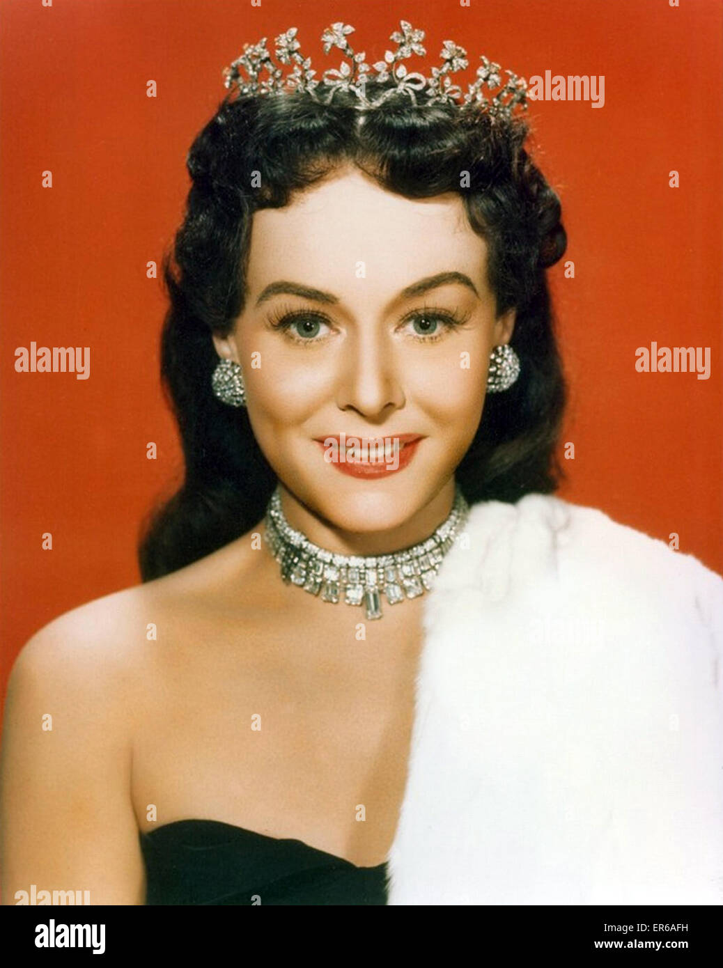 PAULETTE GODDARD (1910-1990) US film actress about  1958 - Stock Image