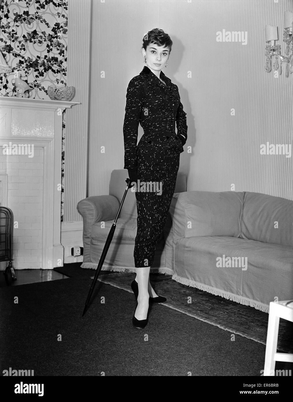 Audrey Hepburn, actress, May 1953. - Stock Image