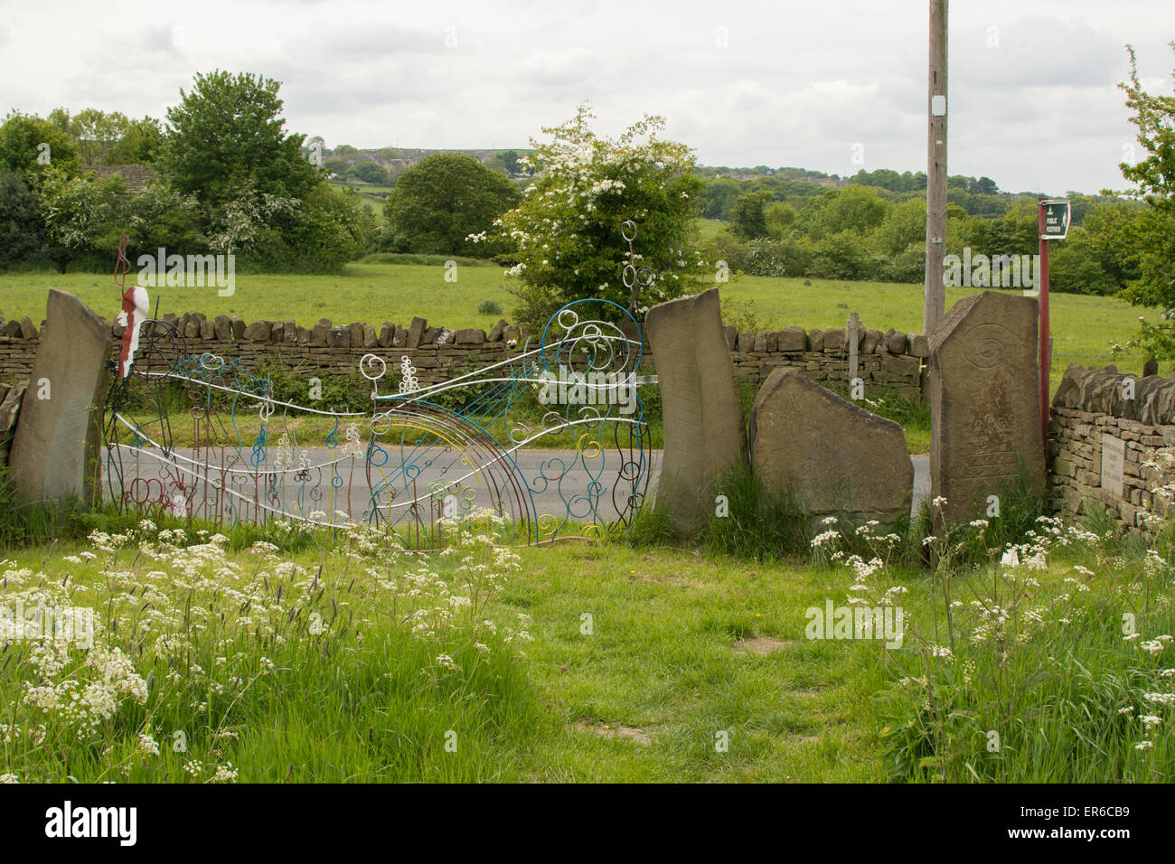 Pye Flatts meadows - beautiful ancient lowland grassland meadows in Hoylandswaine, South Yorkshire, England, UK - Stock Image