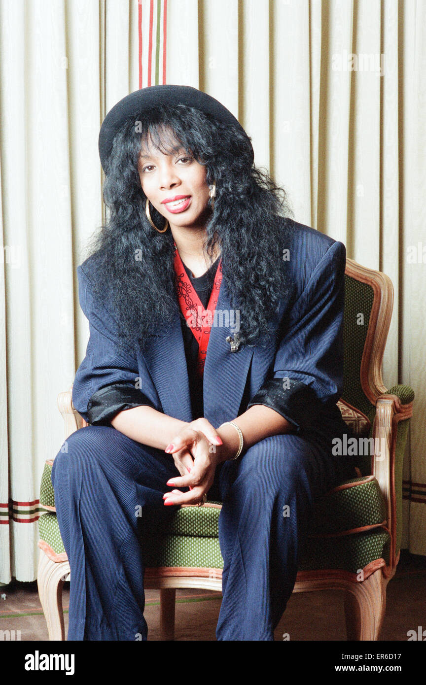 Donna Summer, 2nd May 1989. Stock Photo