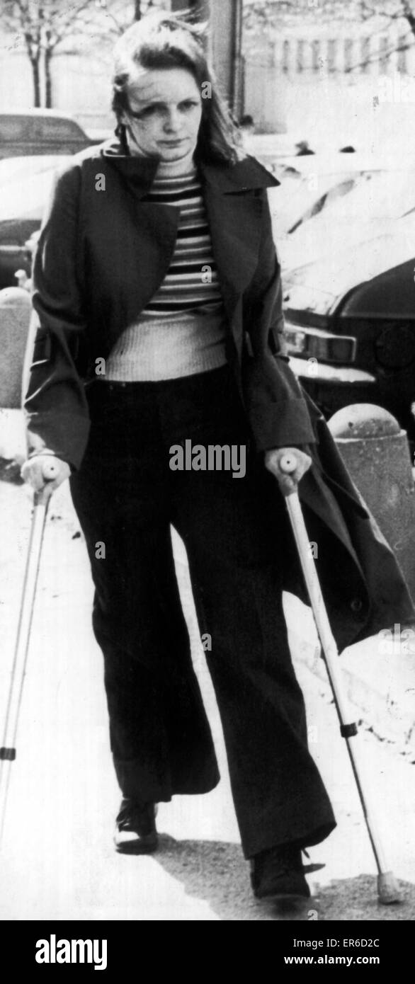 Georgetta Fleming, Manchester Crown Court, where she gave evidence in Trevor Hardy murder trial, 22nd April 1977. - Stock Image
