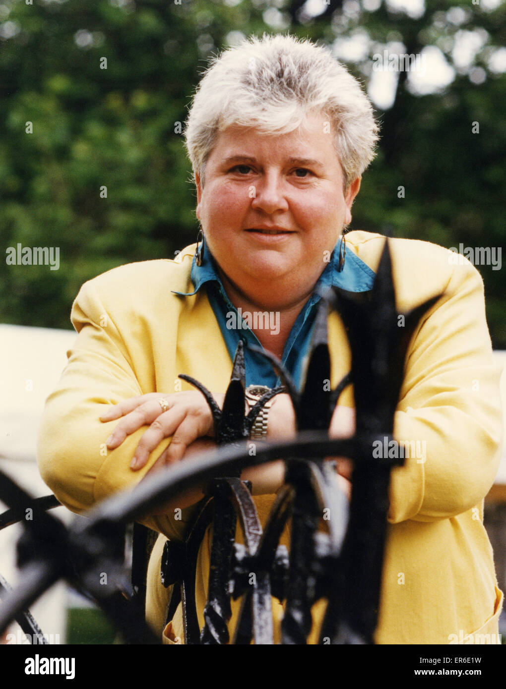 Val McDermid, Author, 26th April 1994. Former Sunday People Journalist. Pictured at Edinburgh Book Festival. - Stock Image