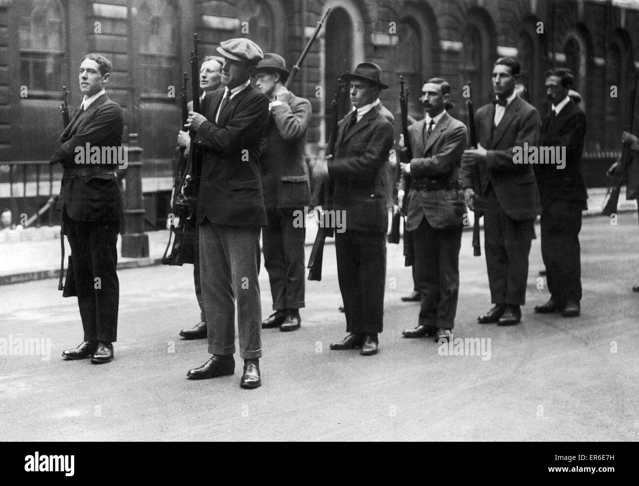 Mobilisation of the Inns of Court Rifle Brigade 6th August 1914 - Stock Image