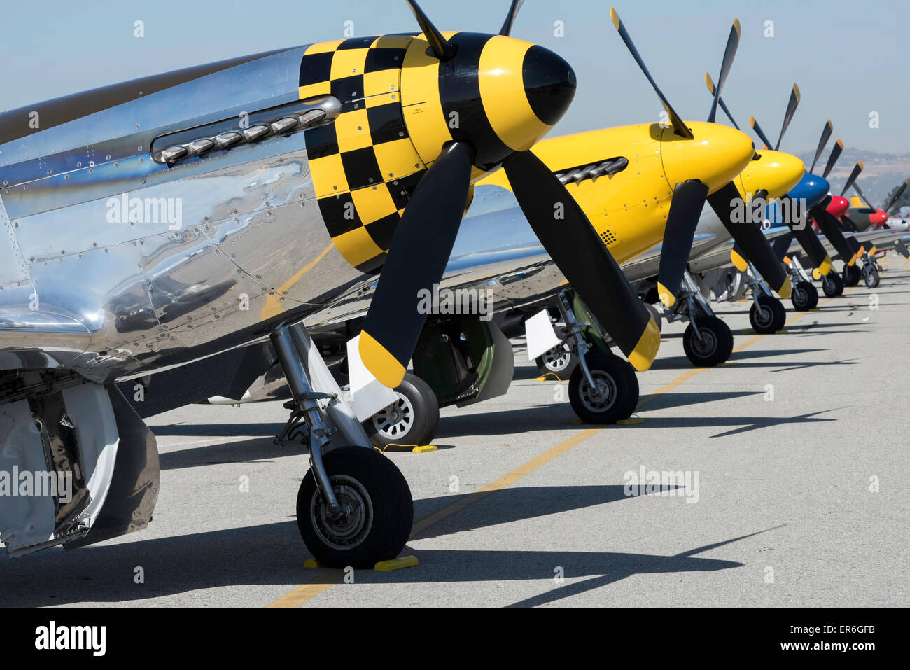 WW2 fighter planes at the ready - Stock Image