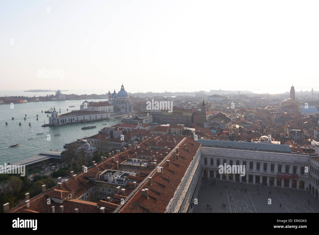 Ariel view of St Marks Square (Piazzo San Marco) Venice Italy Stock ...