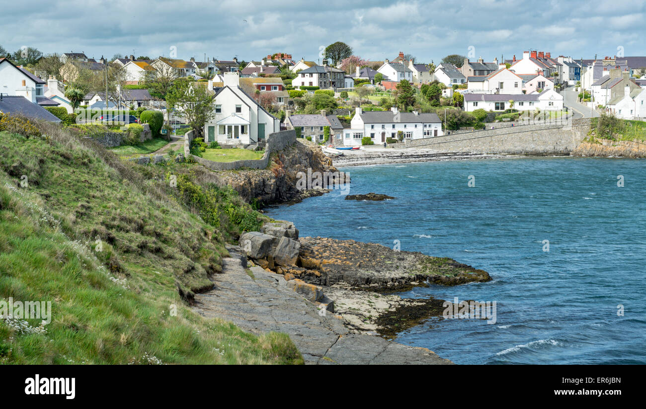 Moelfre Fishing Village Anglesey North Wales Uk Stock
