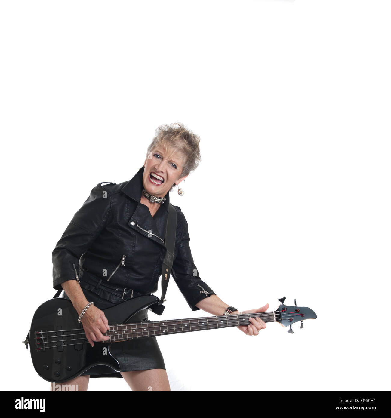 Granny Rock Chick (3 of 6) - Stock Image