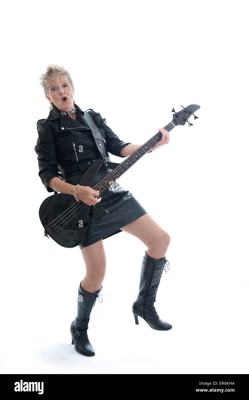 Granny Rock Chick (1 of 6) - Stock Image