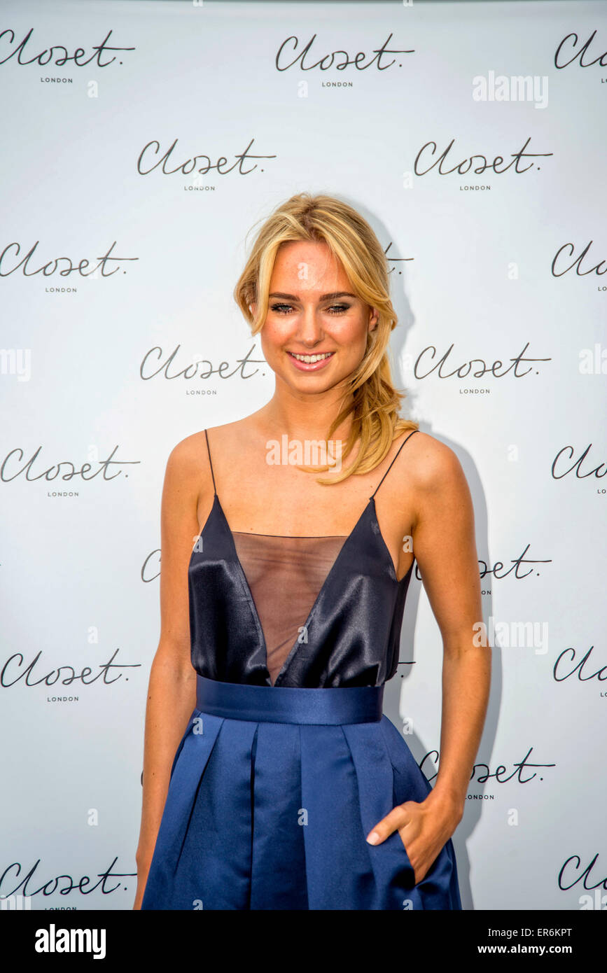 Kimberley Garner attending the 'Closet London Re-Brand Party' 27th May 2015 - Stock Image