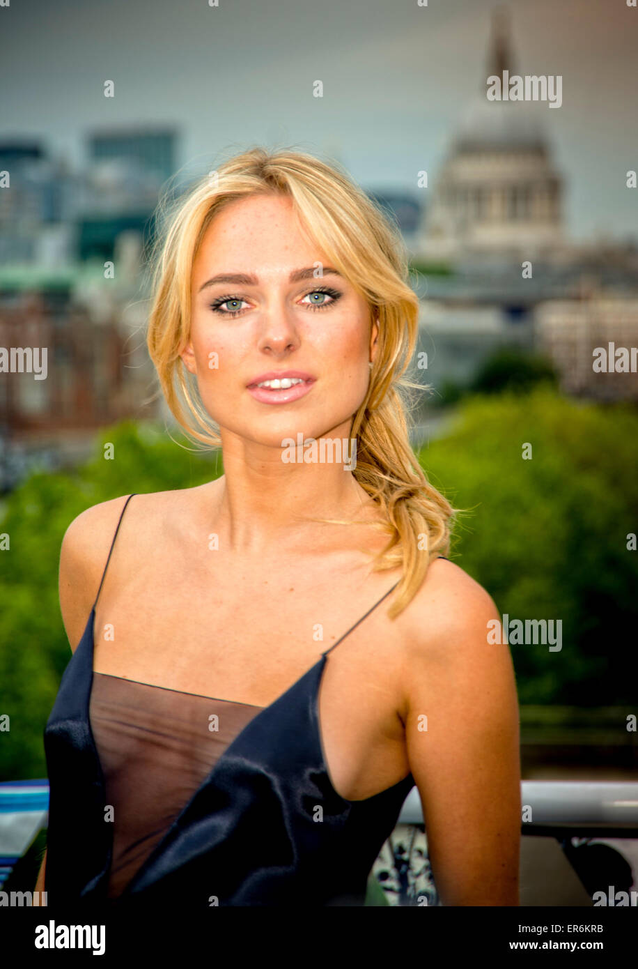 Closet Re Brand Party  London 27th May 2015 Kimberley Garner attending the 'Closet London Re-Brand Party' 27th May - Stock Image