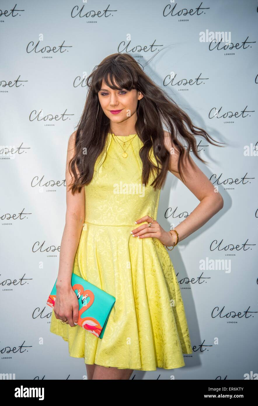 Lila Parsons attending the 'Closet London Re-Brand Party' - Stock Image