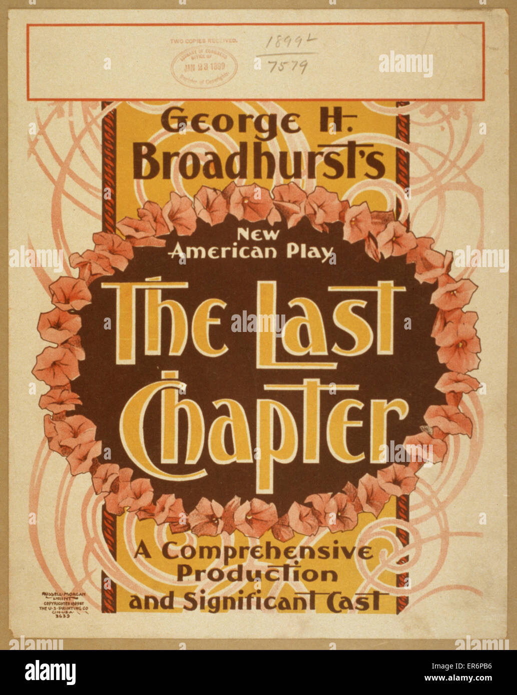 George H. Broadhurst's new American play, The last chapter a comprehensive production and significant cast. - Stock Image