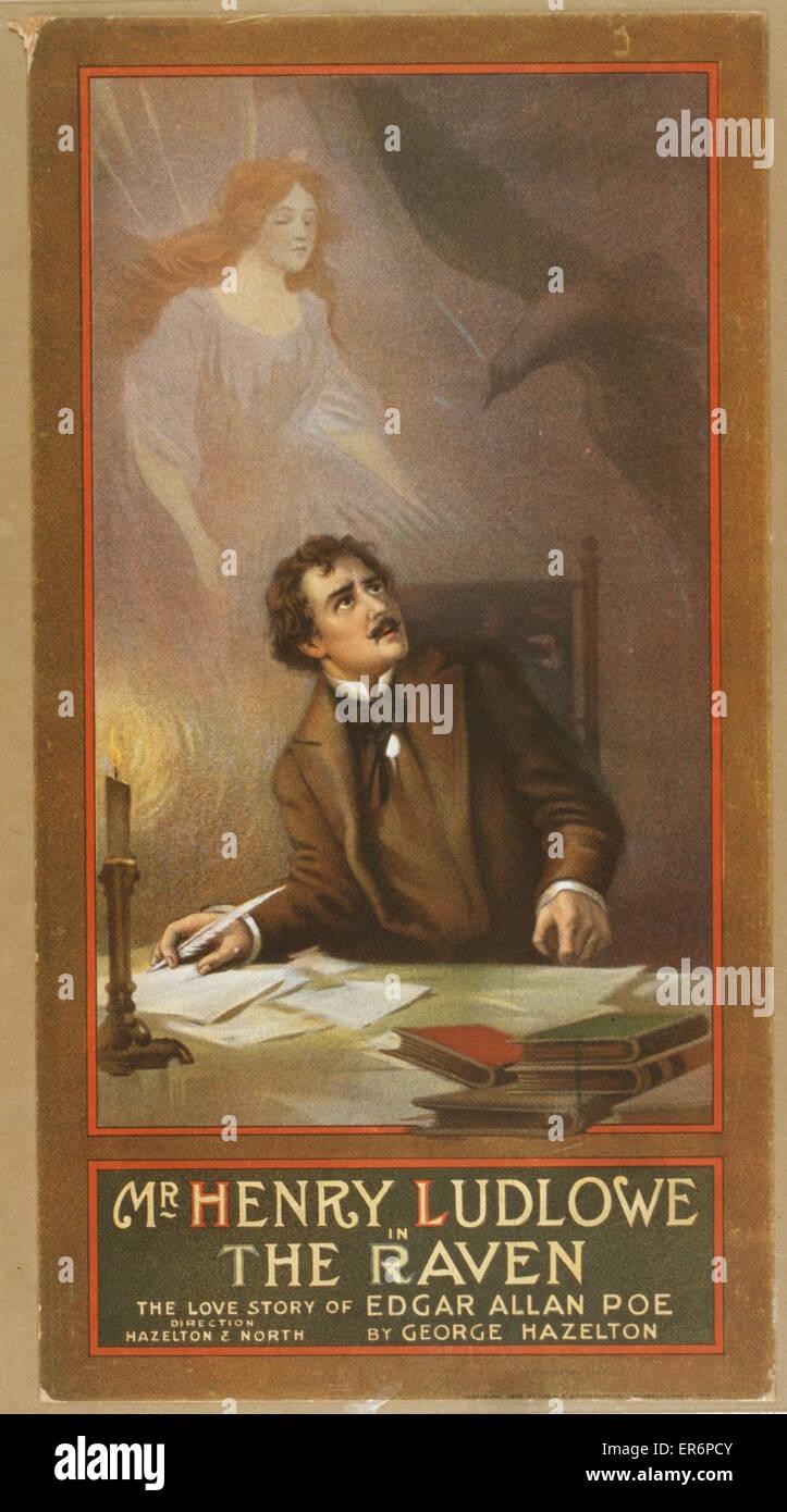 Mr. Henry Ludlowe in The raven the love story of Edgar Allan Poe by George Hazelton. Date c1908. - Stock Image