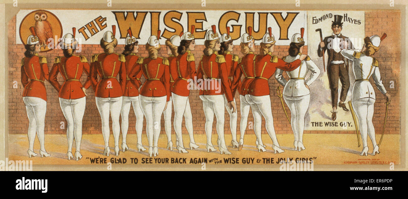 The wise guy. Date c1906. - Stock Image